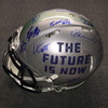 NFL - 2018 Draft multi signed speed revolution helmet (including Sam Darnold, Saquon Barkley Josh Allen, Josh Rosen, Lamar Jackson) over 20 signatures total, smudge on one signature