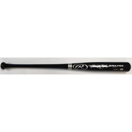 Harrison Bader Autographed Black Rawlings Bat