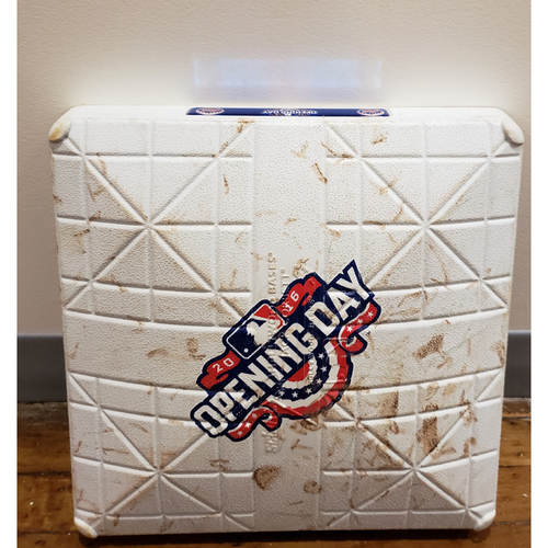 Photo of Game-Used Opening Day Base: Philadelphia Phillies at New York Mets - 2nd Base Used in Innings 4-6 - 4/8/16