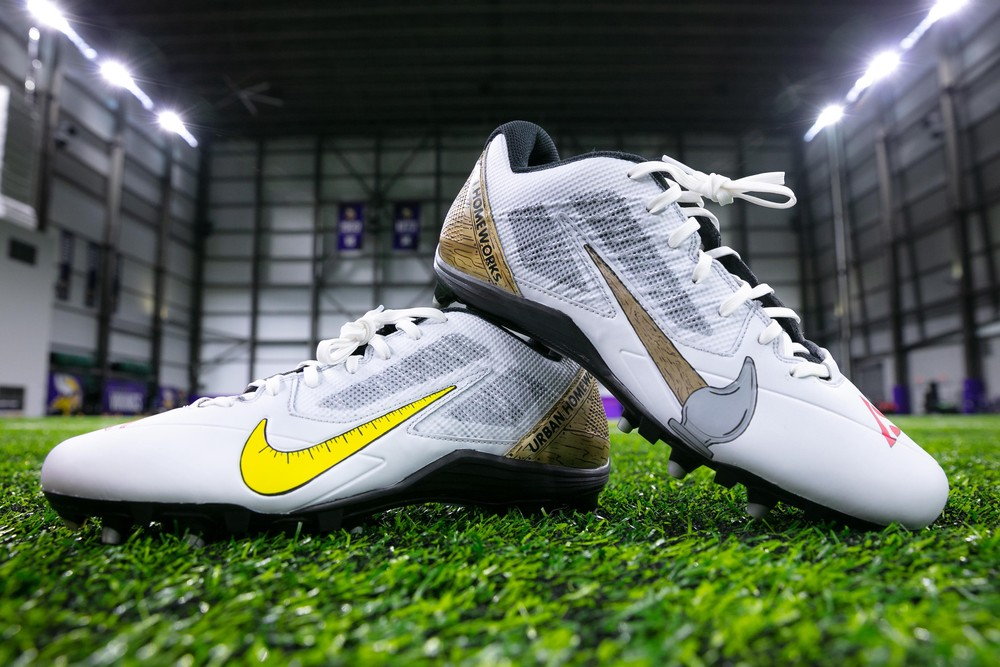 My Cause My Cleats - Minnesota Vikings Kirk Cousins Custom Cleats and Custom Bose Headphones