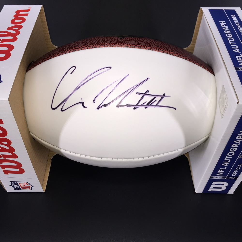 NFL - Raiders Chris Warren III Signed Panel Ball