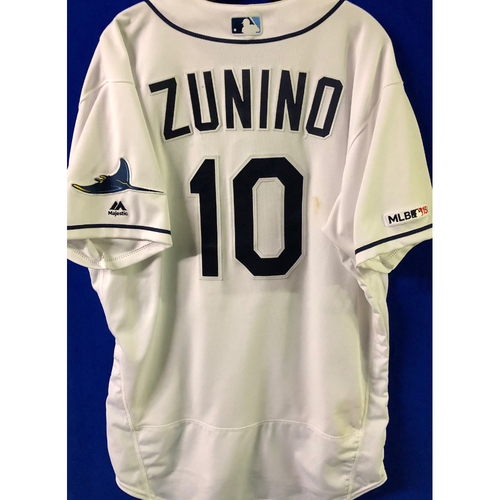 Game Used HOME RUN Jersey: Mike Zunino - April 22, 2019 v KC (2-R HR), April 23, 2019 v KC & May 6, 2019 v ARI