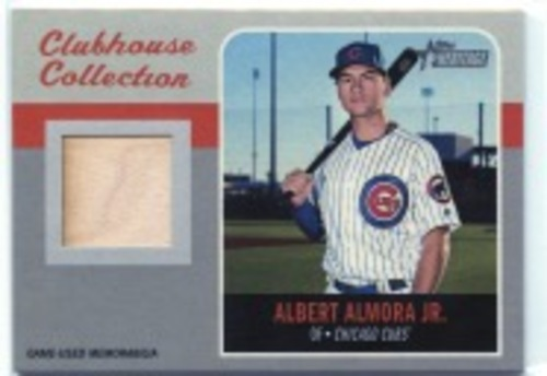 Photo of 2019 Topps Heritage Clubhouse Collection Relics #CCRAA Albert Almora Jr. HN
