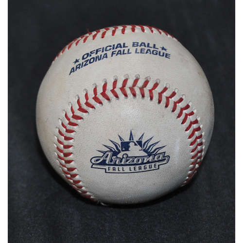 Photo of Game-Used Baseball: 2019 Arizona Fall League - Pitcher: Anthony Castro (DET), Batter: Jacob Heyward (SFG) - Double - Top 3 - 10/18/2037