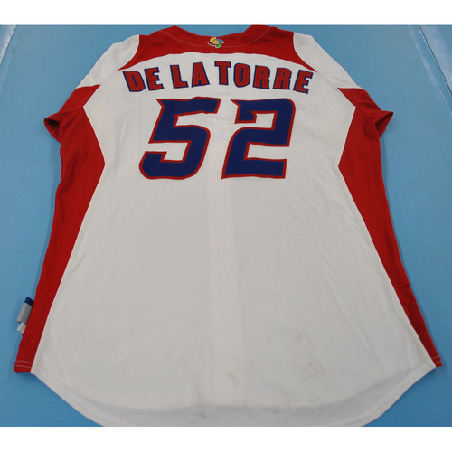 Photo of Game-Used Jersey - 2013 World Baseball Classic - Puerto Rico -  #52 Jose De La Torre