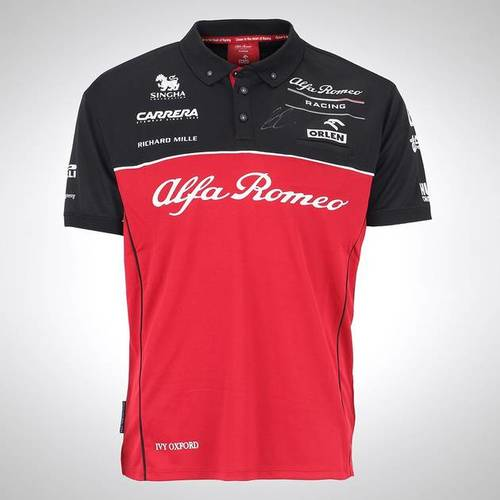 Photo of Kimi Raikkonen 2020 Signed Team Polo Shirt