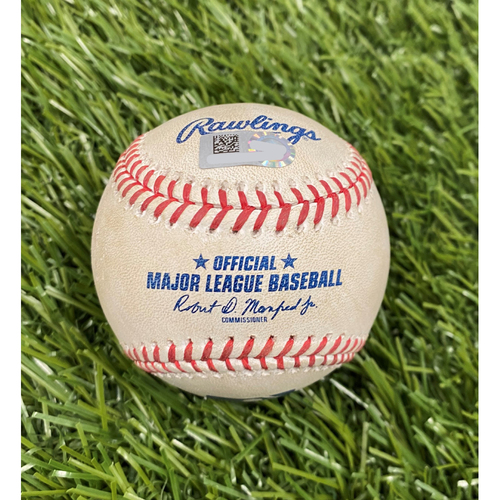 Photo of Game-Used Baseball: Patrick Corbin Strikes Out Aaron Judge - 7/26/20