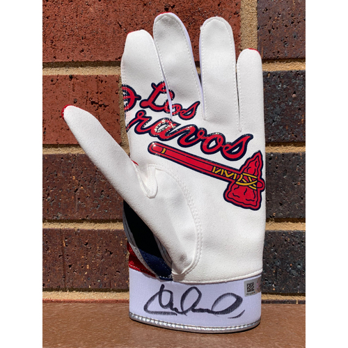 Photo of William Contreras MLB Authenticated and Autographed Los Bravos Batting Glove