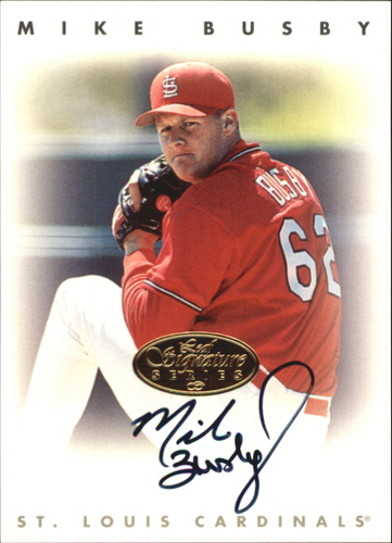 Photo of 1996 Leaf Signature Autographs Gold #38 Mike Busby
