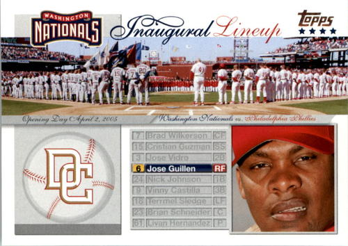 Photo of 2005 Topps Update Washington Nationals Inaugural Lineup #JG Jose Guillen