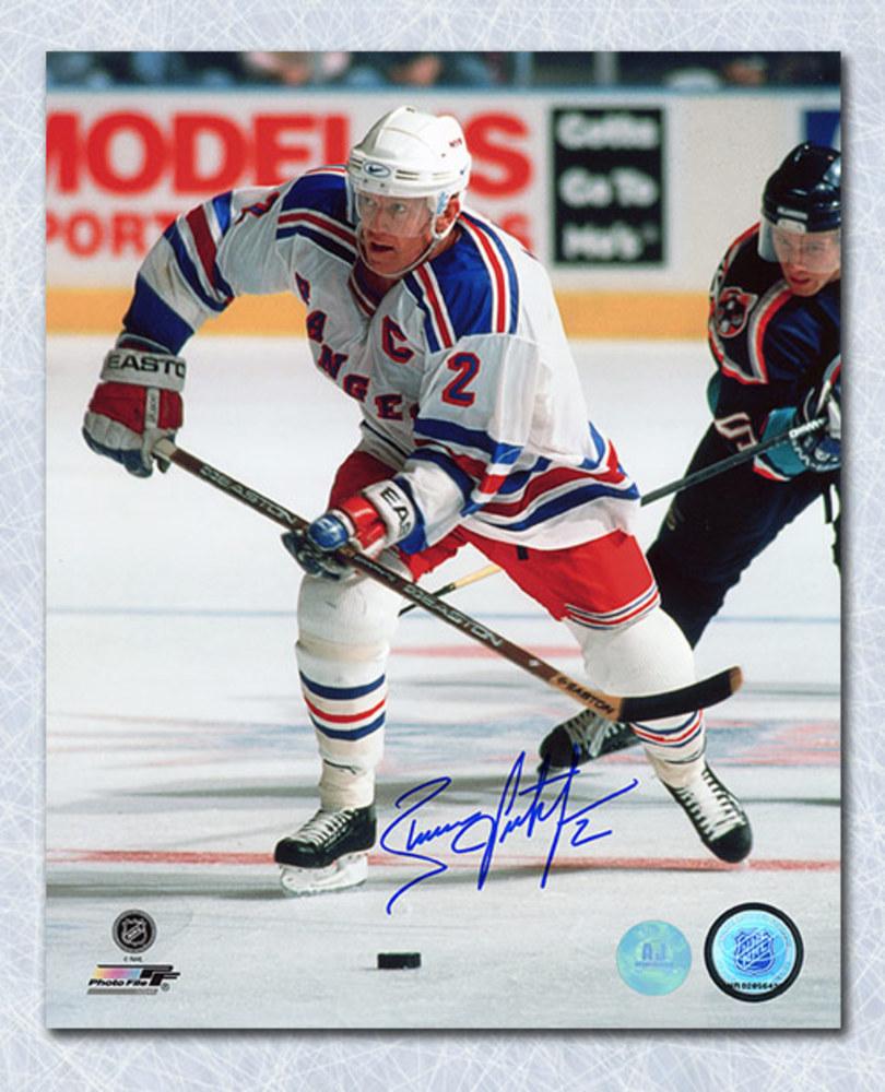 Brian Leetch New York Rangers Autographed Captain 8x10 Photo