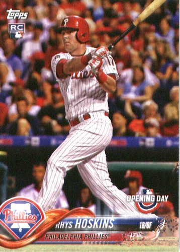 Photo of 2018 Topps Opening Day #82 Rhys Hoskins