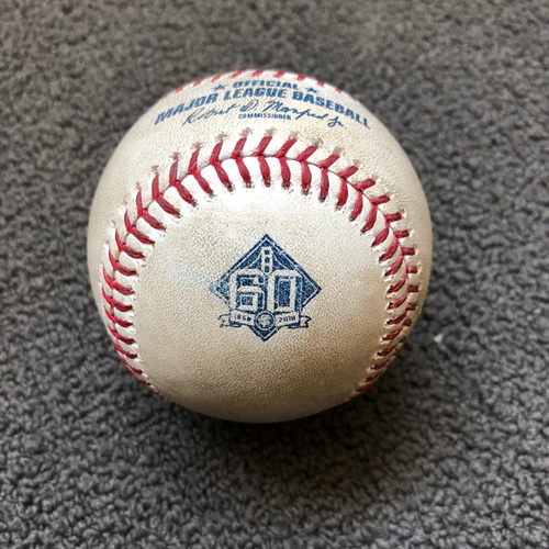 Photo of San Francisco Giants - 2018 Game-Used Baseball - Cory Gearrin Strikes Out Joey Votto Swinging - 5/16/18 vs. Cincinnati Reds