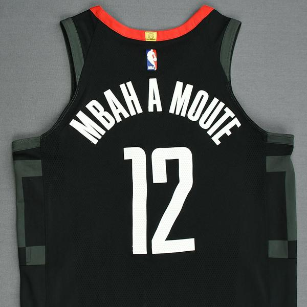 buy online f367d f722e Luc Mbah a Moute - Houston Rockets - Game-Worn 'Statement ...