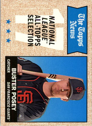 Photo of 2017 Topps Heritage #375 Buster Posey TNAS