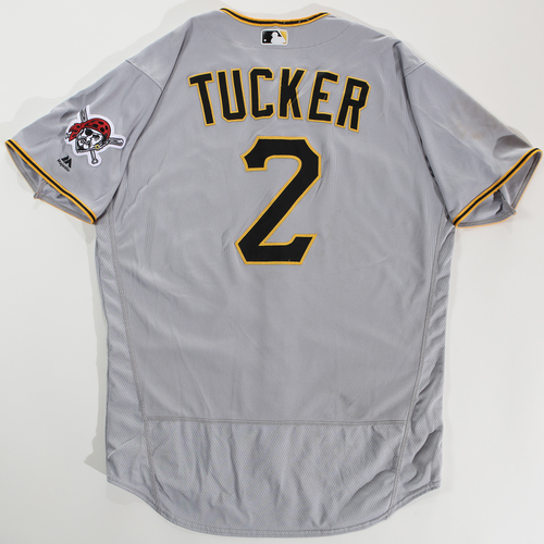 Photo of 2018 Arizona Fall League Game-Used Jersey - Cole Tucker -Size 48