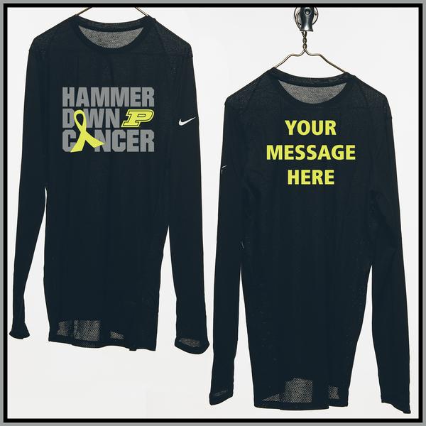 Photo of Purdue Basketball Nike Shooting Shirt With Custom Message, Worn By Eric Hunter Jr.