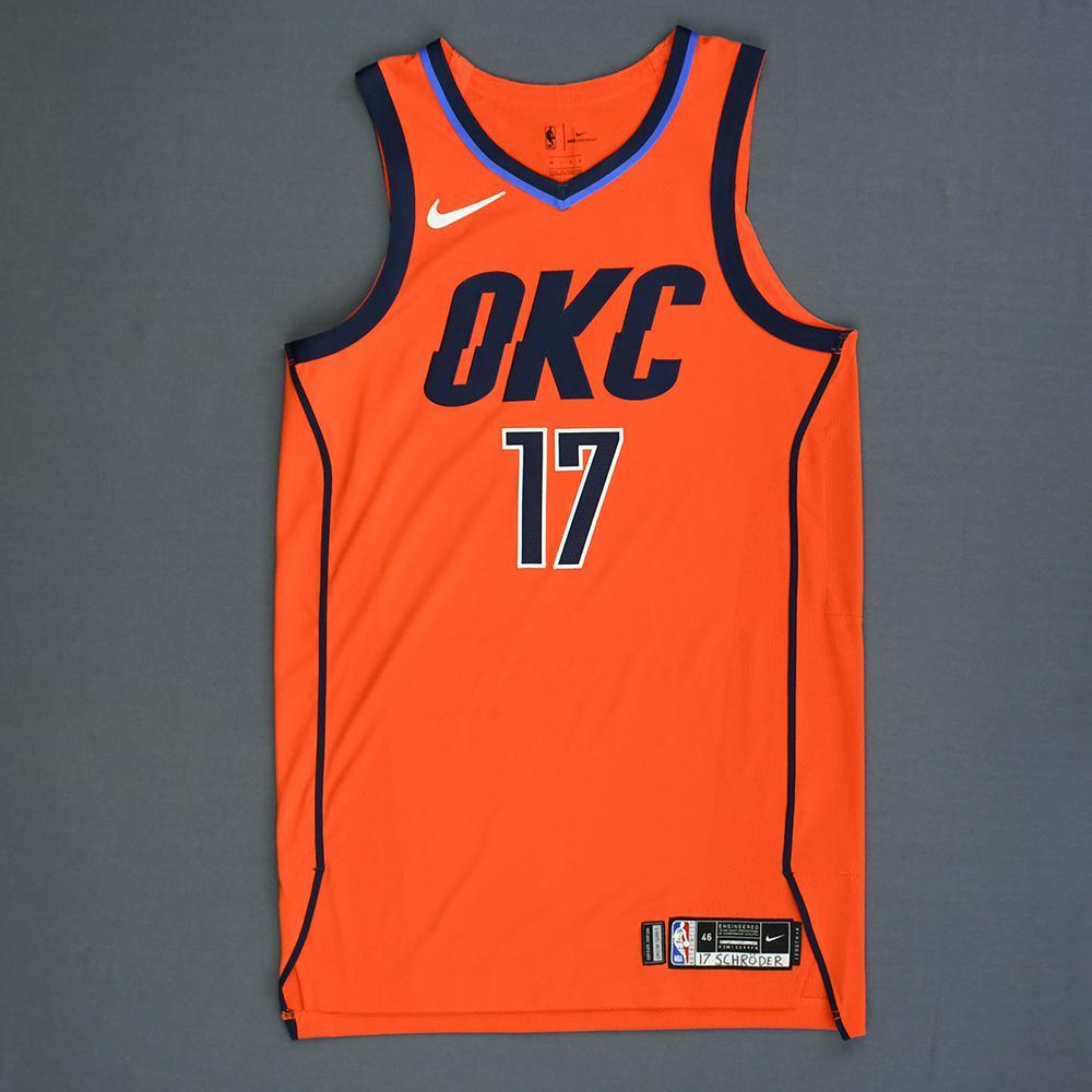 Dennis Schroder - Oklahoma City Thunder - Game-Worn Earned Statement Edition Jersey - 2018-19 Season