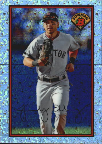 Photo of 2014 Bowman '89 Bowman is Back Silver Diamond Refractors #89BIBJE Jacoby Ellsbury B