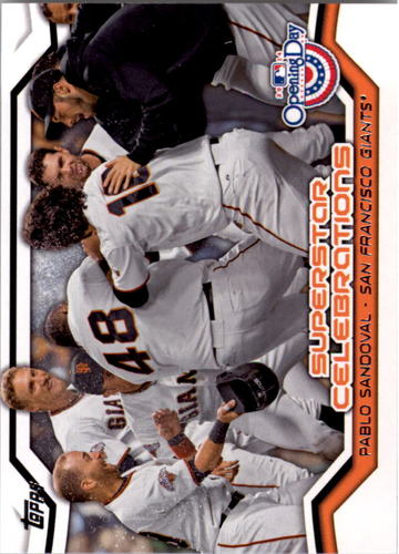 Photo of 2014 Topps Opening Day Superstar Celebrations #SC19 Pablo Sandoval