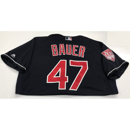 Trevor Bauer Team Issued 2019 Spring Training Jersey