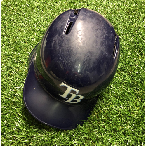 Photo of Game Used HOME RUN Batting Helmet: Kevin Kiermaier - July 25, 2018 v NYY (2-R HR) & September 7, 2018 v BAL (3-R HR)