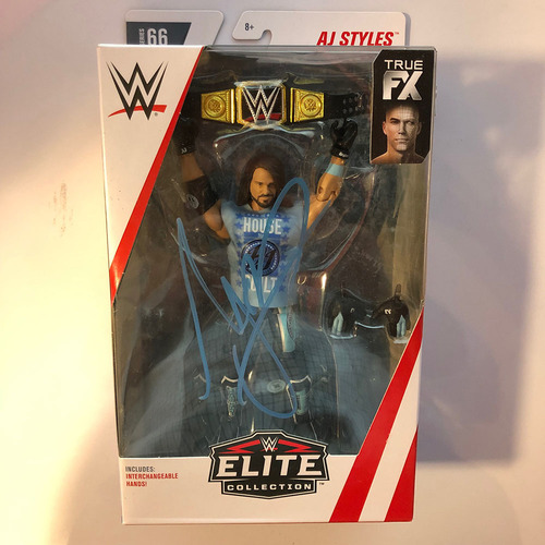 Photo of AJ Styles SIGNED Elite Series Series 66 Action Figure