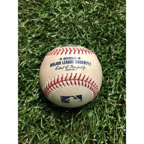 Game Used Baseball: Colin Poche strikes out Nomar Mazara and Joey Gallo - Brendan McKay MLB Debut - June 29, 2019 v TEX