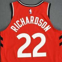 Malachi Richardson - Toronto Raptors - 2018-19 Season - Canada Series - Game-Worn Red Icon Edition Jersey
