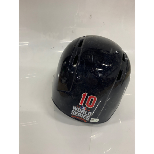 Yon Gomes Game Used Batting Helmet - 2016 World Series Game 7