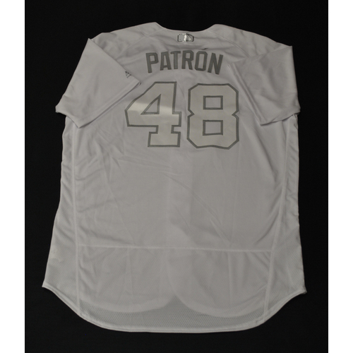 "Photo of Hector ""PATRON"" Noesi Miami Marlins Game-Used 2019 Players' Weekend Jersey"