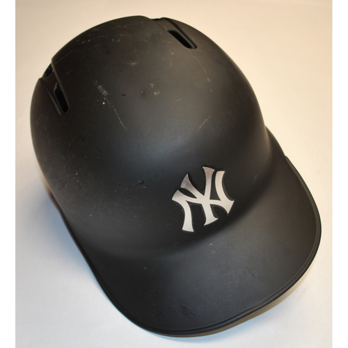 "Photo of Gio ""GIO"" Urshela New York Yankees Game-Used 2019 Players' Weekend Helmet"