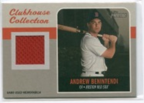 Photo of 2019 Topps Heritage Clubhouse Collection Relics #CCRAB Andrew Benintendi HN