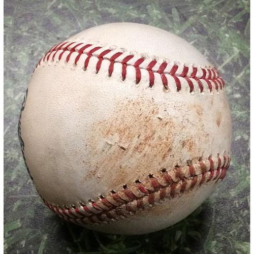 Photo of Game-Used Baseball ATL@MIL 07/16/19 - Bryse Wilson - Keston Hiura: Single