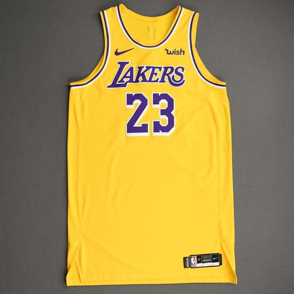 Image of LeBron James - Los Angeles Lakers - NBA China Games - Game-Worn Icon Edition Jersey - Worn 2 Games - Scored Team-High 20 Points - 2019-20 NBA Season
