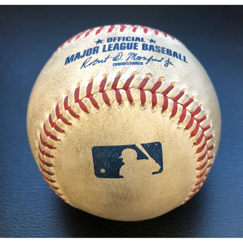 Photo of Game-Used Baseball: Pitcher:  Taijuan Walker Batter: Joc Pederson (Home Run) - Top 2nd (LAD @ SEA - 8/19/2020)