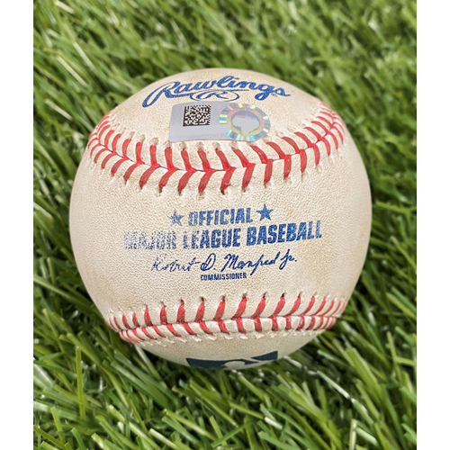 Photo of Game-Used Baseball: Bryce Harper Single - 8/25/20