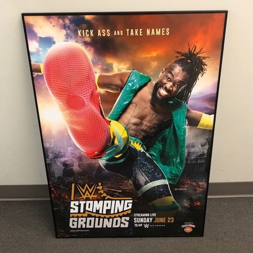 Photo of Kofi Kingston SIGNED Stomping Grounds Foam PPV Poster