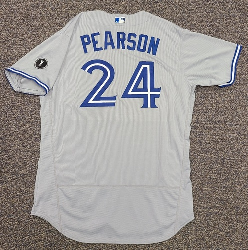 Photo of Authenticated Team Issued Jersey: #24 Nate Pearson (2020 Season). Set 2. Size 50.