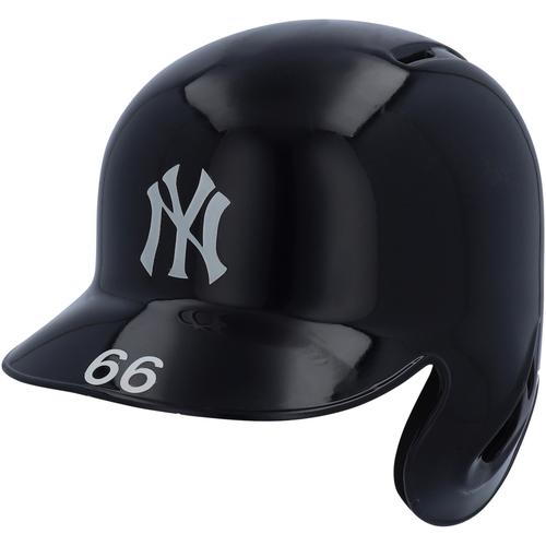 Photo of Kyle Higashioka New York Yankees Game-Used Batting Helmet vs. Chicago White Sox on April 13, 2019