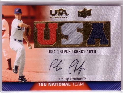Photo of 2009-10 USA Baseball 18U National Team Jersey Autographs #PP Phillip Pfeifer/39