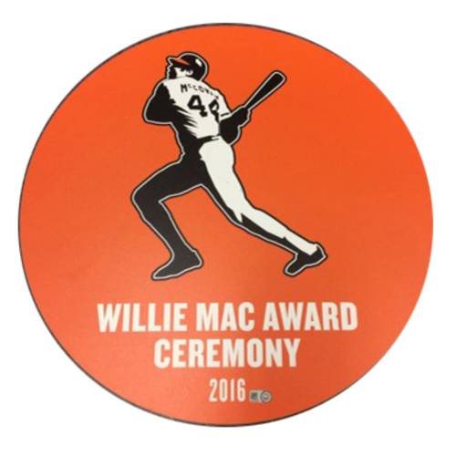 Photo of San Francisco Giants - Ceremony Disc - Willie Mac Award 2016