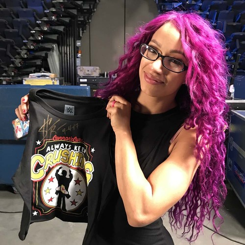 Sasha Banks WORN & SIGNED Connor's Cure