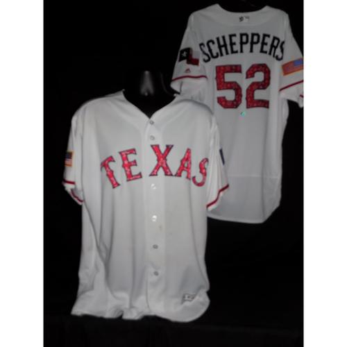 Tanner Scheppers 2017 Team-Issued Jersey