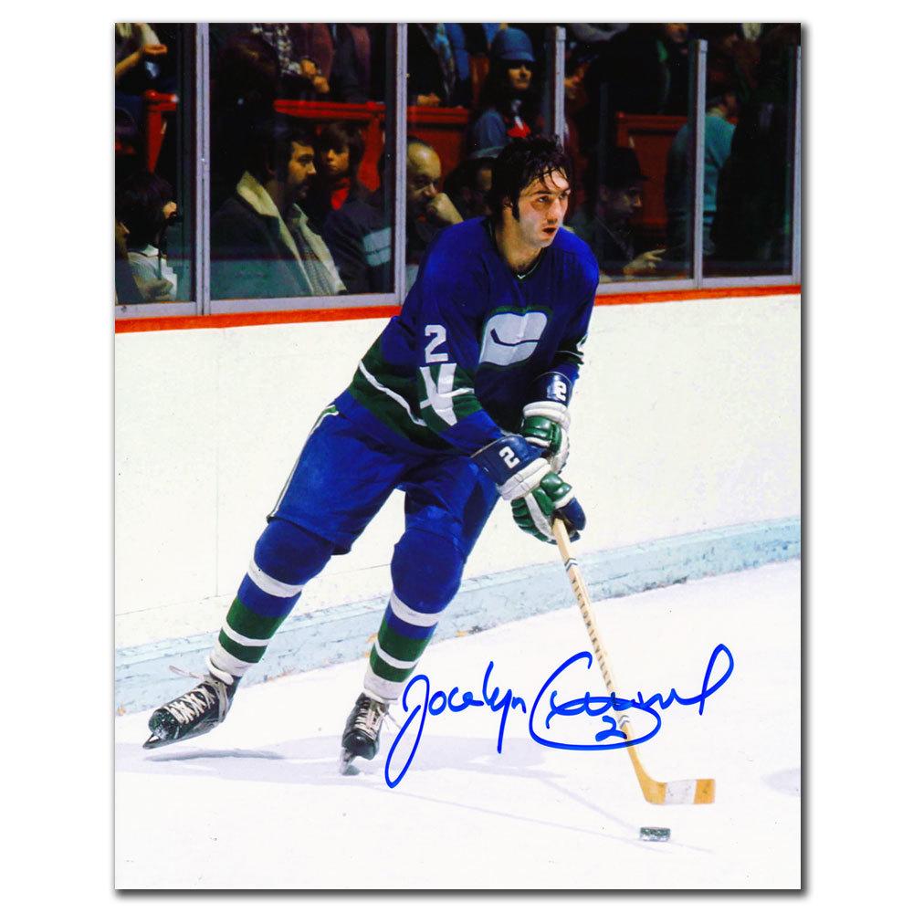 Jocelyn Guevremont Vancouver Canucks Autographed 8x10
