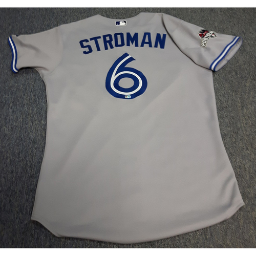 Photo of Authenticated Team Issued 2015 Postseason Jersey - #6 Marcus Stroman. Size 44.