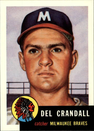 Photo of 1991 Topps Archives 1953 #197 Del Crandall