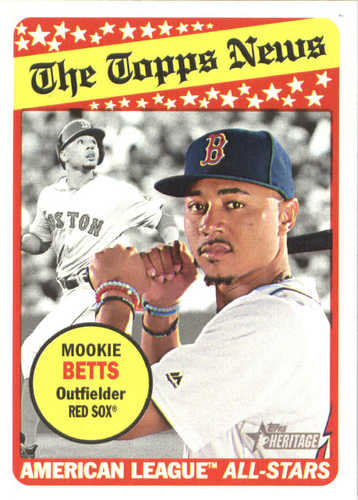 Photo of 2018 Topps Heritage #182 Mookie Betts