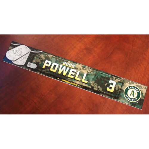 Photo of Boog Powell 2018 Team Issued Memorial Day Locker Nameplate