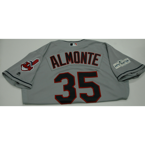Photo of Abraham Almonte 2017 Team-Issued Postseason Road Jersey